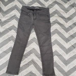 Carbon skinny jeans.